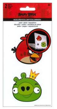 SandyLion Angry Birds Reusable Decals - 2 Sheets