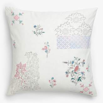 Aster Eka Floral Pillow White
