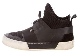 Balenciaga Leather Accent High-Top Sneakers