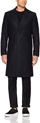 Theory Men's Wool Over Coat in Herringbone