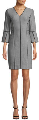 Elie Tahari Laurie Contrast-Piping Dress