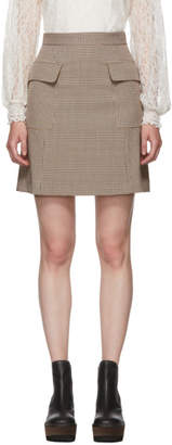 See by Chloe Multicolor Houndstooth Pocket A-Line Miniskirt