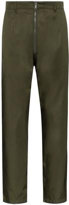 Prada straight leg zip-front trousers