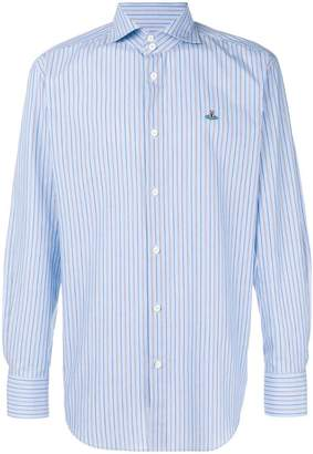 Vivienne Westwood logo-embroidered striped shirt