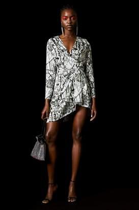 Topshop Marble Effect Dress by x Halpern