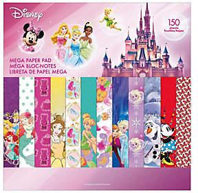 Disney Mega Paper Pad - Girl Designs 2