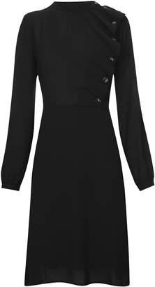 Next Womens Vero Moda Petite Long Sleeve Ruffle Dress