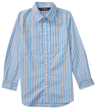 Ralph Lauren Childrenswear Girls 2-6x Striped Shirt $69.50 thestylecure.com