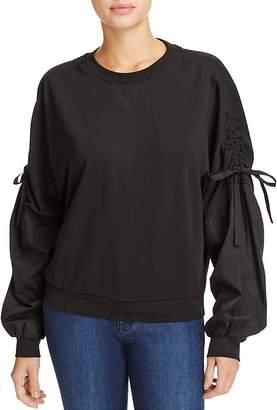Do and Be Poplin-Sleeve Sweatshirt