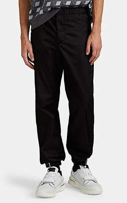 Prada Men's Logo-Cuff Jogger Pants - Black