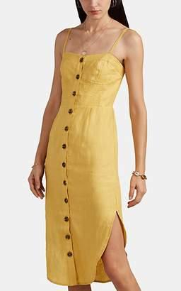 Suboo Women's Biscay Slub Linen Button-Front Sundress - Yellow