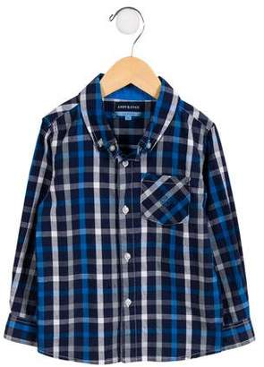 Andy & Evan Boys' Plaid Button-Up Shirt
