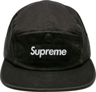 Supreme Snap Button Pocket Camp Cap - 'FW 18' - Black