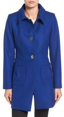 Women's Cece 'Nora' Tuck Pocket Wool Blend Coat $178 thestylecure.com