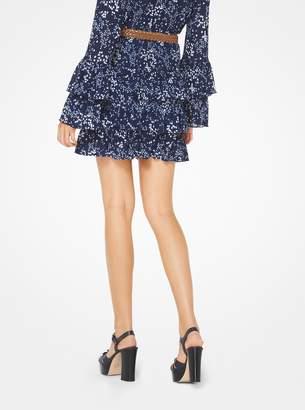 MICHAEL Michael Kors Floral Ruffled Skirt