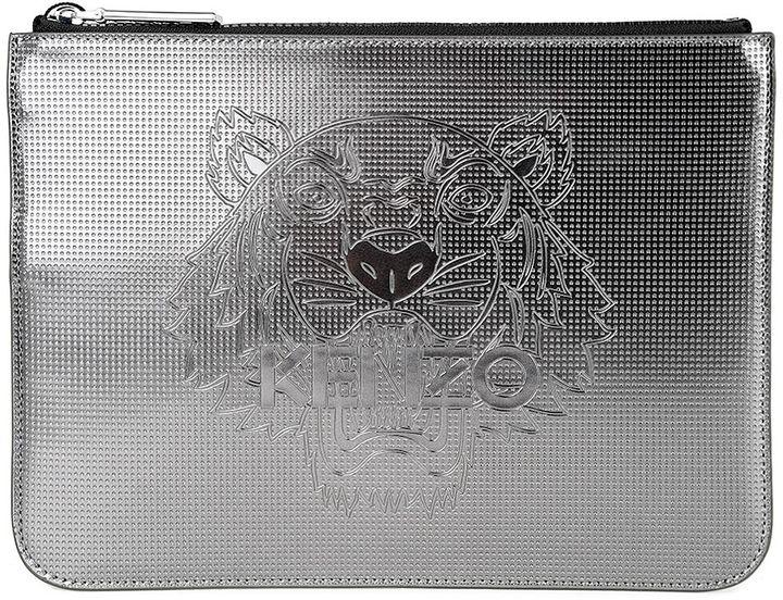 KenzoKenzo Tiger Metallic-pvc Clutch Bag