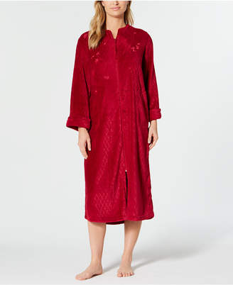 Miss Elaine Petite Fleece Long Zip Robe