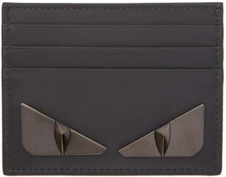 Fendi Grey Bag Bugs Card Holder