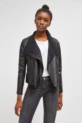French Connenction Armide PU Waterfall Jacket