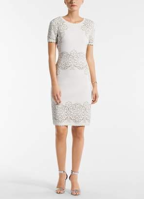 St. John Laurel Jacquard Knit Dress