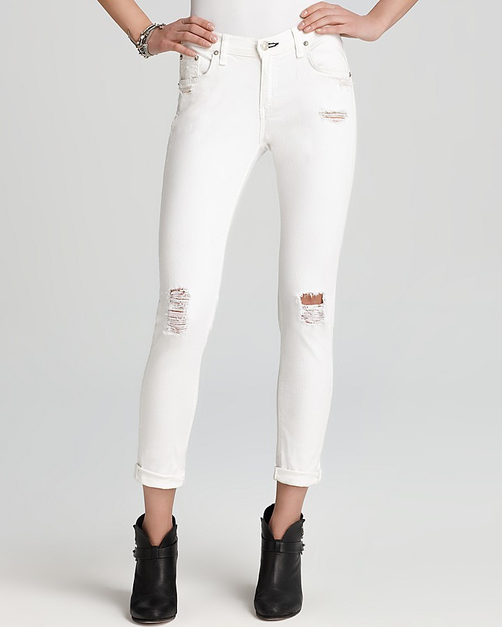Rag and Bone Jeans - The Dash in Tattered White