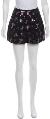 Rachel Comey Metallic Mini Shorts