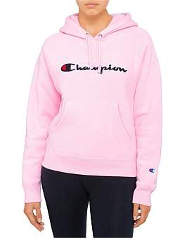 Champion Womens Reverse Weave Chenille Script Hoodie
