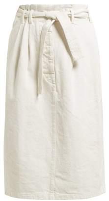 da25d32c76 Lemaire High Rise Pleated Waist Denim Skirt - Womens - Ivory