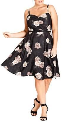 City Chic Antique Rose A-Line Dress