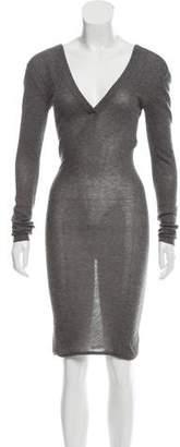 Dolce & Gabbana Long Sleeve Midi Dress