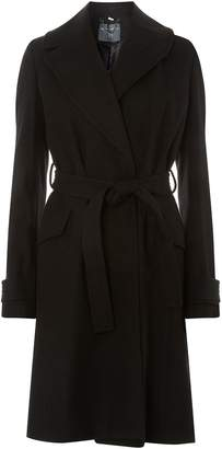 Dorothy Perkins Womens **Tall Black Wrap Belted Coat