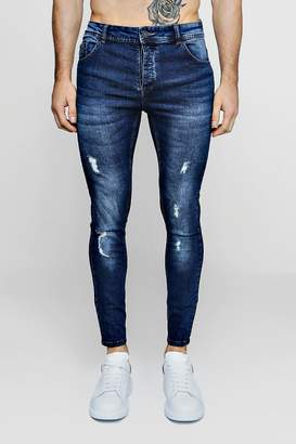 boohoo Skinny Fit Jeans With Light Distressing