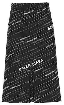 Balenciaga Printed cotton midi skirt