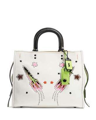 Coach 1941 Rogue Rocket Leather Tote Bag, White $895 thestylecure.com