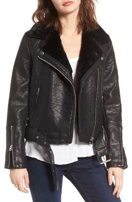 Women's Topshop Vardy Faux Leather Biker Jacket $110 thestylecure.com