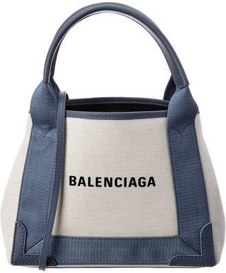 Balenciaga Cabas Xs Canvas & Leather Tote