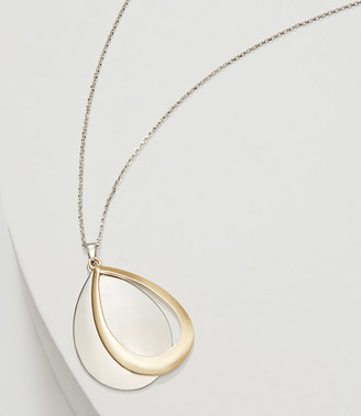 Mixed Metallic Drop Pendant Necklace $34.50 thestylecure.com