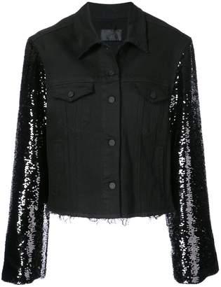 RtA sequined sleeve denim jacket