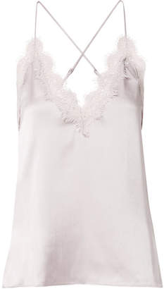 CAMI NYC Everly Lace-trimmed Silk-charmeuse Camisole - Lilac