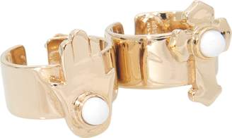 Roberto Cavalli Charms two-fingers ring
