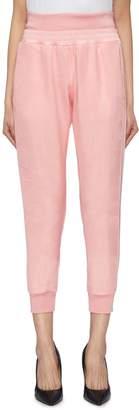 Alexander McQueen Tulle overlay silk satin jogging pants