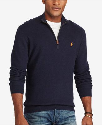 Polo Ralph Lauren Men's Big & Tall Half-Zip Sweater $125 thestylecure.com