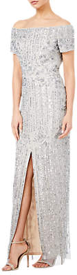 Adrianna Papell Petite Heather Dress, Silver