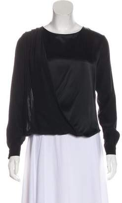 Frame Long Sleeve Silk Blouse