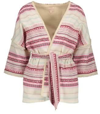 Sale - Honey Striped Kimono Jacket - Women's Collection - Louise Misha