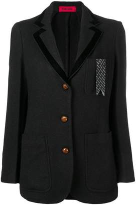 The Gigi logo chest pocket blazer