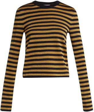 Saint Laurent Striped long-sleeve sweater