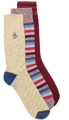 Original Penguin Combed Cotton Crew Socks - 3 Pack - Men's