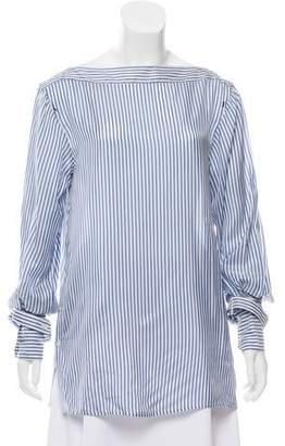 Calvin Klein Collection Striped Long Sleeve Top