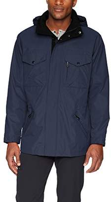 Izod Men's Rain and Wind Resistant Preformance Jacket with Hidden Hood